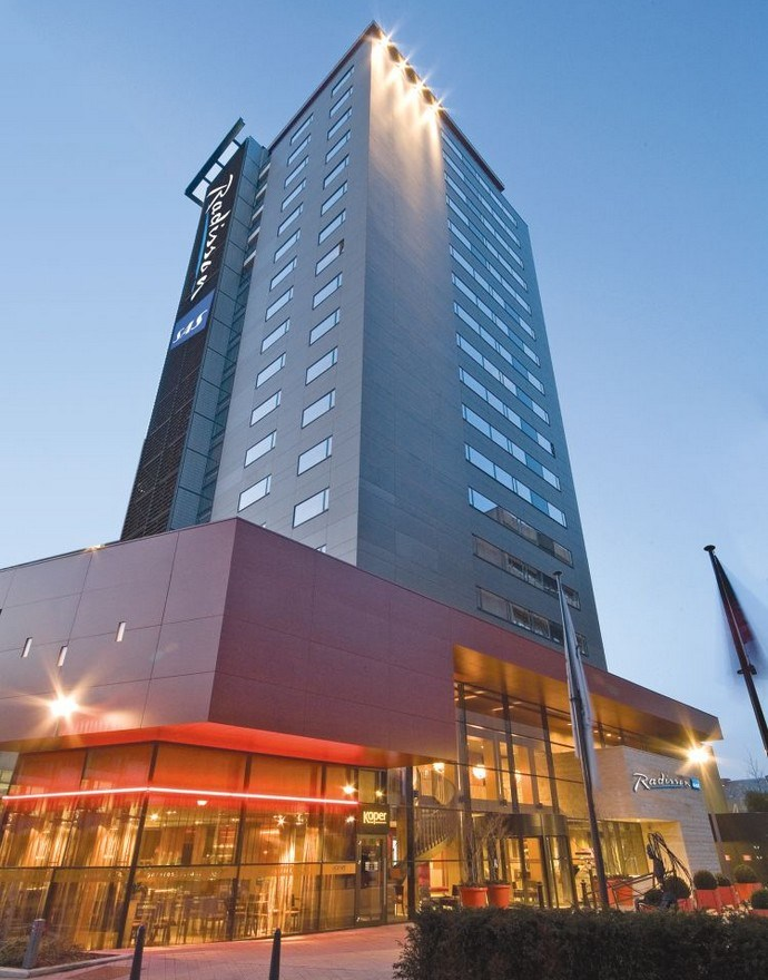 Radisson Blu Hotel Hasselt Gevel